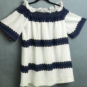 English Factory Linen Ruffle Dress